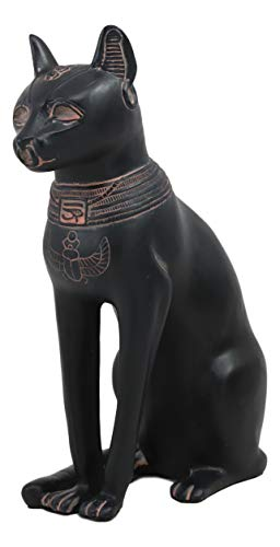 Ebros Ancient Egyptian Goddess Bastet Statue in Rustic Clay Finish Temple of Bast Feline Ubasti Cat Deity of Home Women and Protection Decor Figurine Sculpture As Historical Educative Tool Or Accent ()