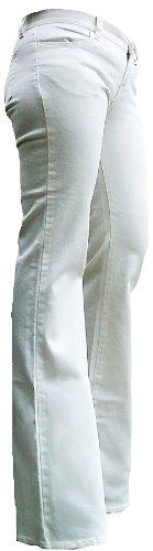 Fornarina Boom Jeans elasticizzati, donna, motivo: Rock Star, edizione speciale Flare-Pantaloni sportivi con pietre di cristallo