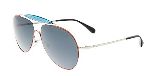 Prada 56SS UFS2K1 Red / Silver / Blue 56SS Aviator Sunglasses Lens Category 3 - Rectangular Sunglasses Prada Aviator