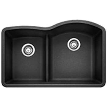 Blanco 441598 Diamond 1.75 Low Divide Under Mount Reverse Kitchen Sink, Large, Anthracite