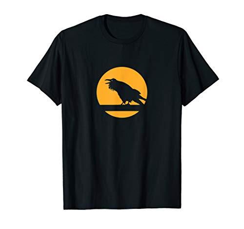 Halloween Raven Moon Silhouette Graphic Costume T-Shirt ()
