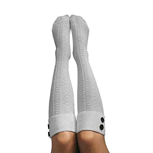 Socks, WOCACHI Women Christmas Warm Thigh High Long Stockings Knit Over Knee Socks Xmas ()