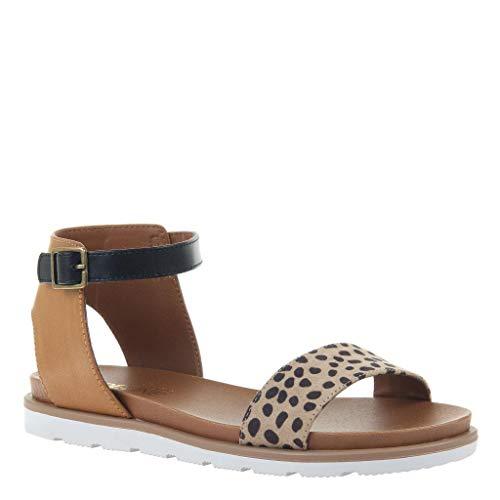 MADELINE girl Women's Starling Flat Sandals - Leopard - 8.5 ()