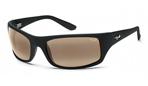 Maui Jim Peahi Sunglasses - Polarized Matte Black Rubber/Hcl Bronze, One Size