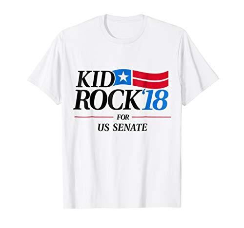 Mens Kid for US Senate 2018 Men's T-Shirt In Rock We Trust Large White