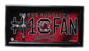 Glass South Carolina Clock (South Carolina Gamecocks License Plate Clock)