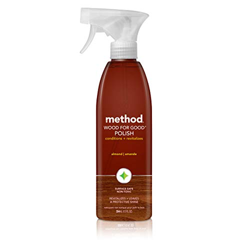 Method Wood for Good Polish, Wood Cleaner, Almond, 12 Ounce (Pack 6) ()