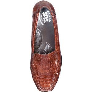SAS Womens Joy Cognac Croc Leather Size 6 Medium r9TRrurFok