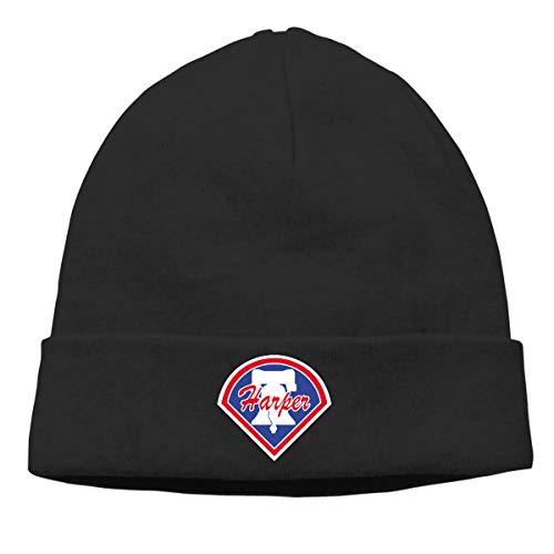 Moore Me Men's Winter Warm Beanie Hats Blue Philadelphia Harper Logo Slouchy Beanie for Women