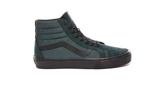 Vans SK8 Hi Reissue Metallic Twill Darkest Spruce Men's Skate Shoes Size 8