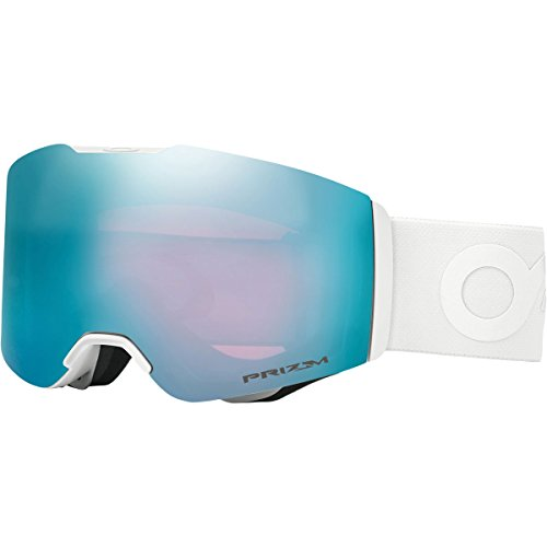 Oakley Fall Line Asian Fit Snow Goggles, Factory Pilot Whiteout Frame, Prizm Sapphire Iridium Lens, - Oakley Goggles Rimless