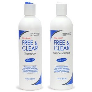 Clean Shampoo (Free & Clear Set, includes Shampoo-12 Oz and Conditioner-12 Oz - One each.)