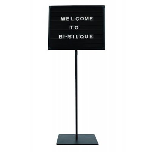 MasterVision Letterboard Stand Magnetic Board, 18'' x 24'', Black by MasterVision