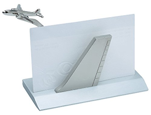 (Airplane Business Card Holder - Silver)