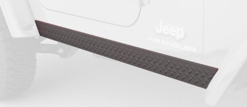 (Bushwacker 14002 Jeep Trail Armor Side Rocker Panel Pair )