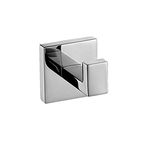 Flybath Coat Hook SUS 304 Stainless Steel Mirror Polished Towel Robe Hooks Square Bathroom Accessories Wall Mounted by Flybath