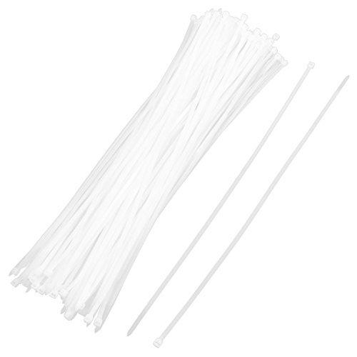 eDealMax Nylon fil de câble Zip Garniture enrouler le Cordon Sangle pontet 6 x 500mm 200 Pcs