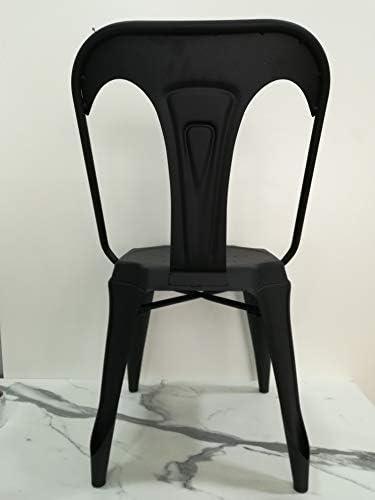 Generico Chaise en métal, noir mat L43,5 x H83 x P51 HS45, style vintage