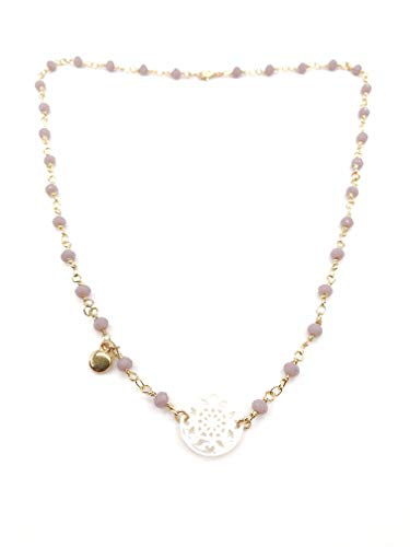 - BOULES Mandala Crystal Beads Necklace for Women 19