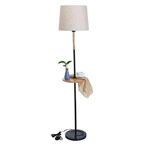 IslandseLiving Room Study Bedroom Floor Lamp Vertical Storage Tray Floor Lamp Table Lamp (White)