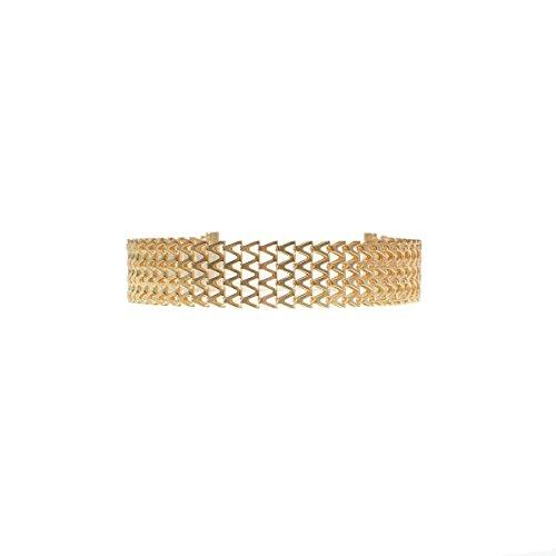Geerier Simple Gold Choker Chevron Design For Women