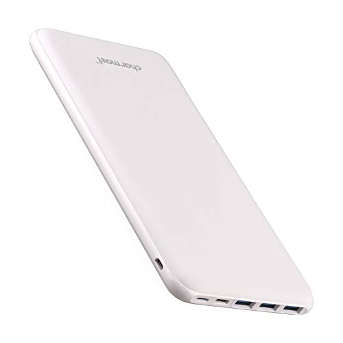 Power Bank Portable Charger 26800mAh High Capacity 5V 3A Fast Charging USB C External Battery Pack with 4 Outputs, Ultra Slim Compact Backup Battery Compatible with MacBook iPhone 11/Pro Samsung-White