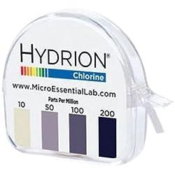 Mel cm-240 Hydrion Chlorine Dispenser 10-200 PPM Test Roll Plus Extra Roll