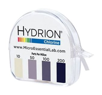 Micro Essential Lab CM-240 Hydrion Chlorine Dispenser 10-200 PPM Test Roll Plus Extra Roll 200 Tests ()