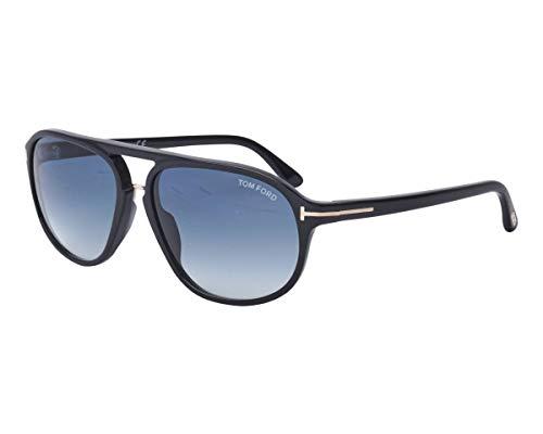 Tom Ford Men FT0447 JACOB 60 Black/Blue Sunglasses ()