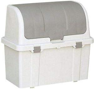 屋外用 ゴミ箱/ストッカー 【220L グレー】 幅86.5cm 仕切りなし仕様 ふた付き 〔庭 勝手口 ガレージ〕