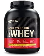 Optimum Nutrition Whey Gold Standard - Koncentrat - Isolat - Vassleproteinhydrolysat - WPC - WPI - WPH - Protein - BCAA Aminosyror - Muskelväxt – Regenerering (Banana Cream, 2270g)