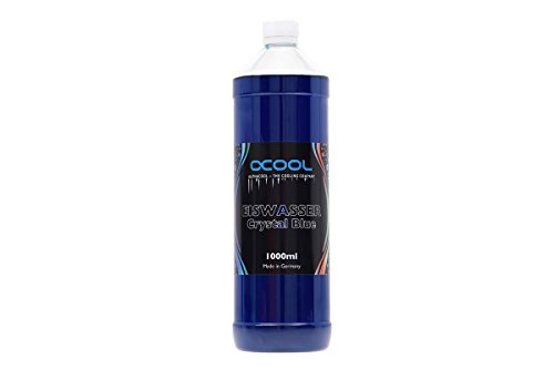 (Alphacool Eiswasser Crystal Premixed Coolant (for Long-Term Use), 1000ml, Blue UV)