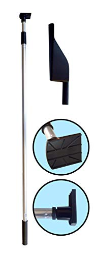 Gutter Hoe - Gutter Cleaning Tool with Scoop and Telescopic Pole with attached Scraper Blade.