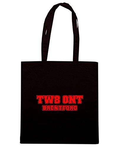 T-Shirtshock - Bolsa para la compra WC1123 brentford-postcode-tshirt design Negro