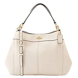 Coach Women S Small Lexy Shoulder Bag In Refined Pebble Leather F28992 Chalk