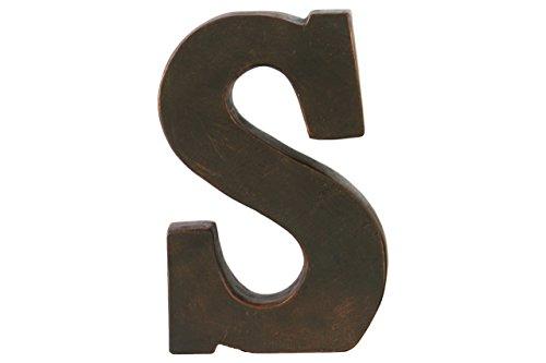 Urban Trends Fiberstone Alphabet Tabletop Decor Letter