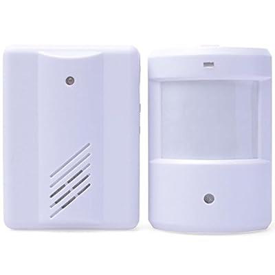 Novelt'y Entry Door Bell Alarm Chime Doorbell Wireless Doorbell Chime IR Infrared Monitor Sensor Detector Split Alarm Door Alarm System Door Bells & Chimes