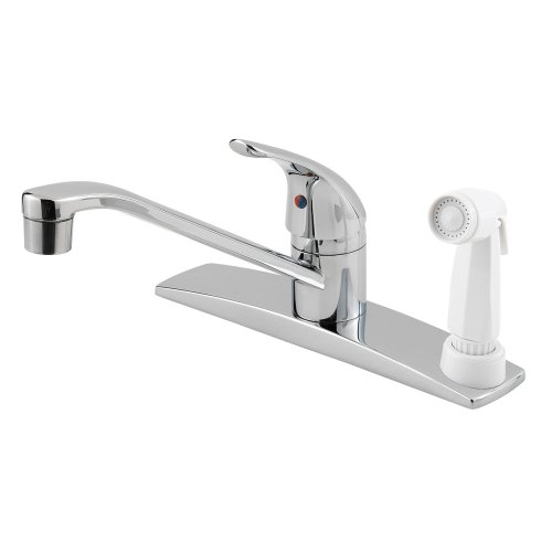 Pfister Pfirst Series 1-Handle Kitchen Faucet with Side Spray, Polished Chrome ()