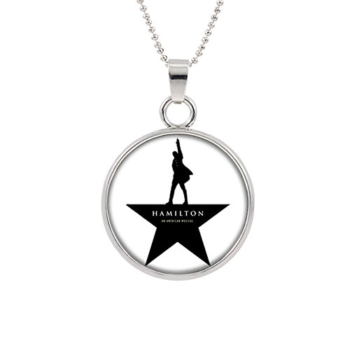 Athena Brands Hamilton Broadway Musical Premium Quality 18 Pendant Necklace with Gift Box