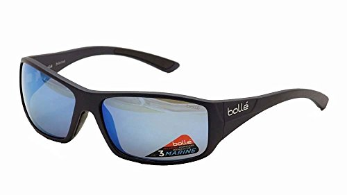 Bolle Kingsnake Sunglass with Polarized Offshore Blue Oleo AR Lens Matte - Sunglasses Bolla
