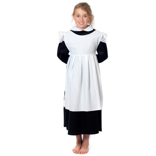 Charlie Crow White Pinafore Smock for Kids one Size fits All. (Includes Smock Only) 3-12 Years ()