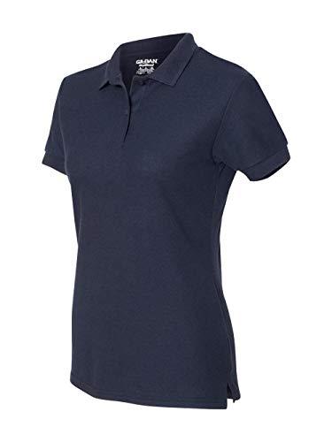 Gildan - Ladies DryBlend Double Pique Polo Shirt - 72800L-Navy-S