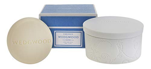 (Wedgwood Luxury Bar Soap with Ceramic Dish - Vibrance 300ml - 6.3 oz)