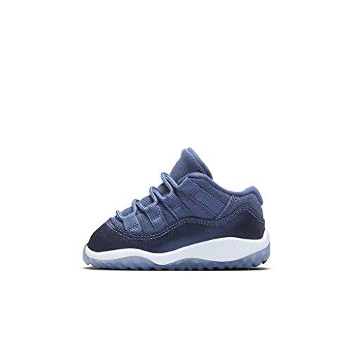 Nike Air Force 1 Basso Mens Scarpe Da Basket 488298-002 Blu Luna / Blu Polarizzato Blu-binario
