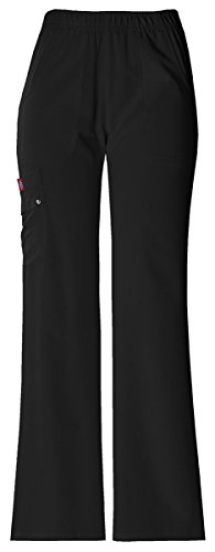Hip Flip Scrub (Dickies Women's Mid Rise Pull-On Cargo Pant_Black_XXX-Large,82012)