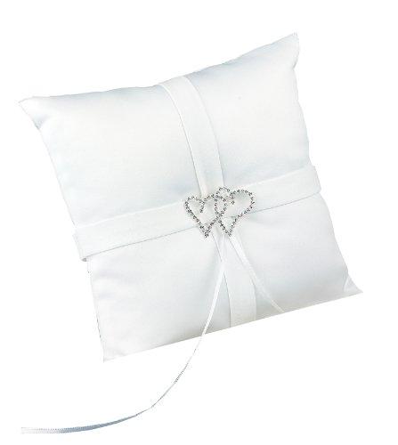 - Hortense B. Hewitt Wedding Accessories With All My Heart Ring Bearer Pillow, White