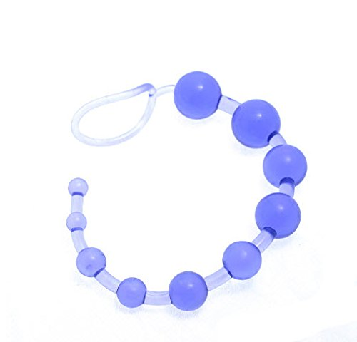 3. SimClub 13 Inch Blue Jelly Anal Beads for Beginner, Flexible Anal stimulator Butt Beads, Sex toy for men and women