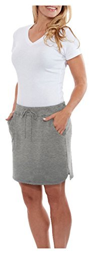 The Balance Collection Women's Weekend Skirt (XL, Med Grey Snow Heather) Collection Women Skirts