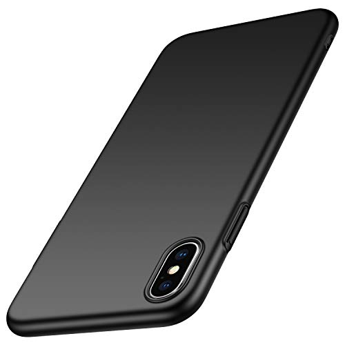anccer Compatible for iPhone Xs Max Case Colorful Series Ultra-Thin Fit Premium Material Slim Cover for Apple iPhone Xs Max 6.5 inch (Smooth Black)