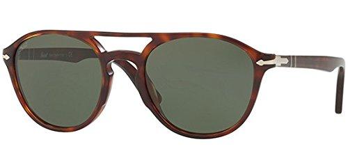 Persol PO3170S 901531 Havana PO3170S Round Sunglasses Lens Category 3 Size 52mm (Persol Sunglasses Round)